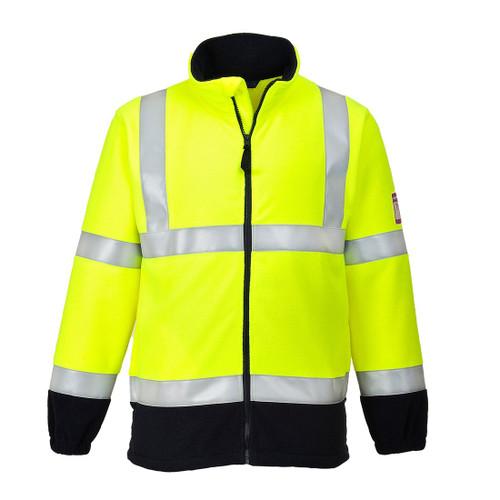 High Vis Yellow Flame Retardant Fleece Jacket