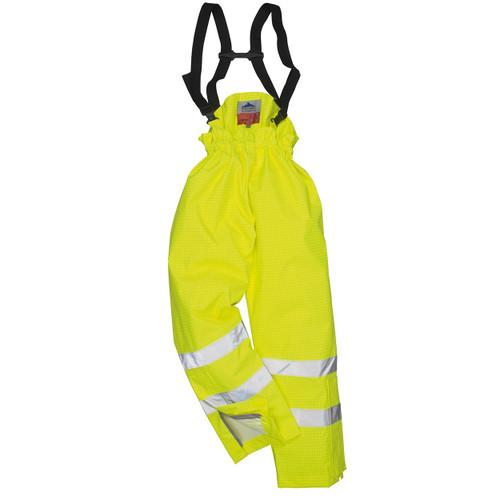 High Vis Yellow Flame Retardant Bib & Brace Trousers