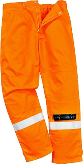 High Vis Orange Flame Retardant Work Trousers