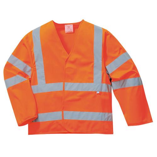 High Vis Orange Long Sleeve Flame Retardant Waistcoat