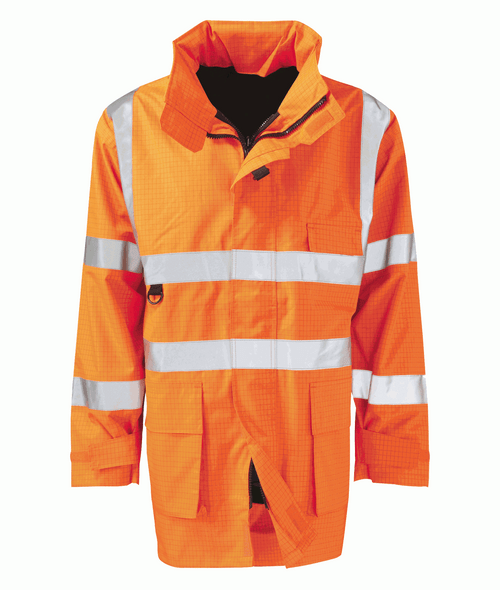 High Vis Orange Flame Retardant Padded Coat