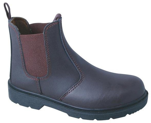 TITAN brown Chelsea safety dealer boot