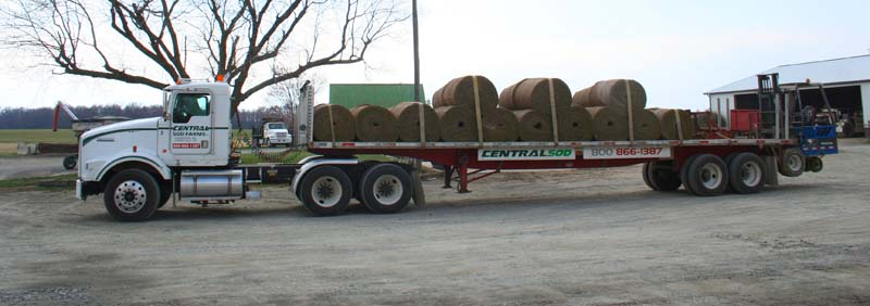 Big Roll Sod on Delivery Truck