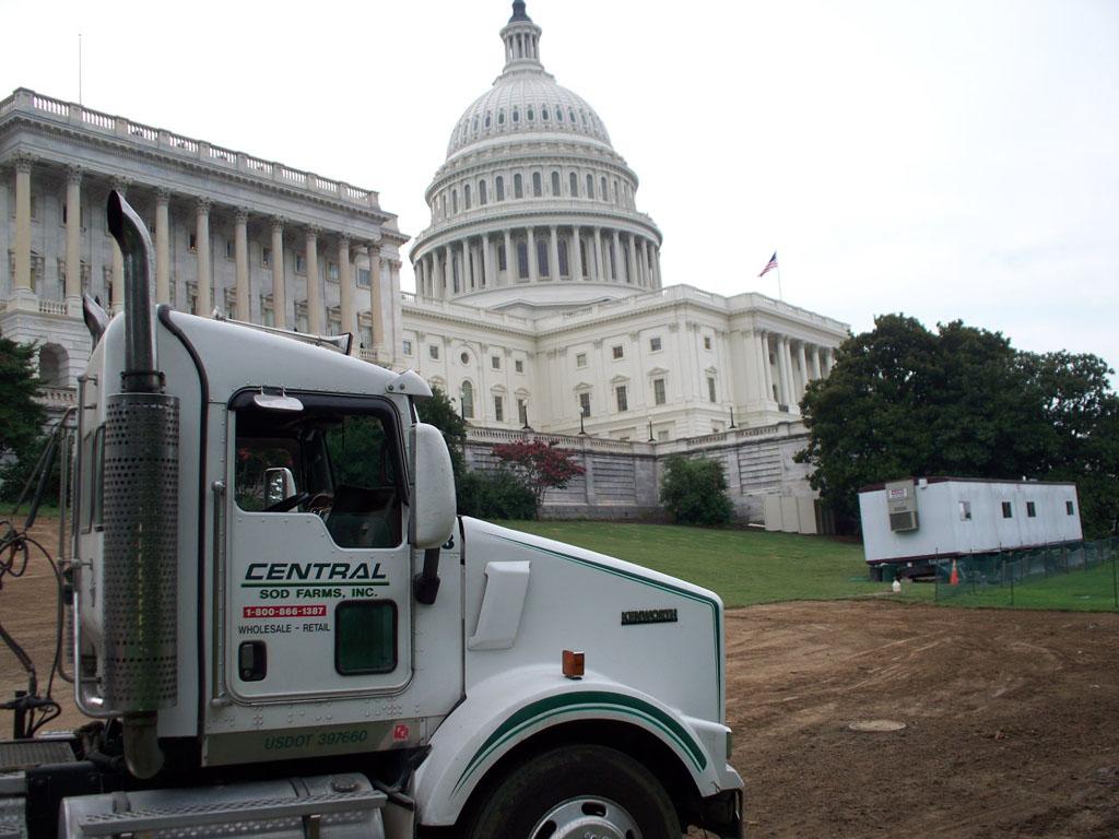 Sod at US Capitol