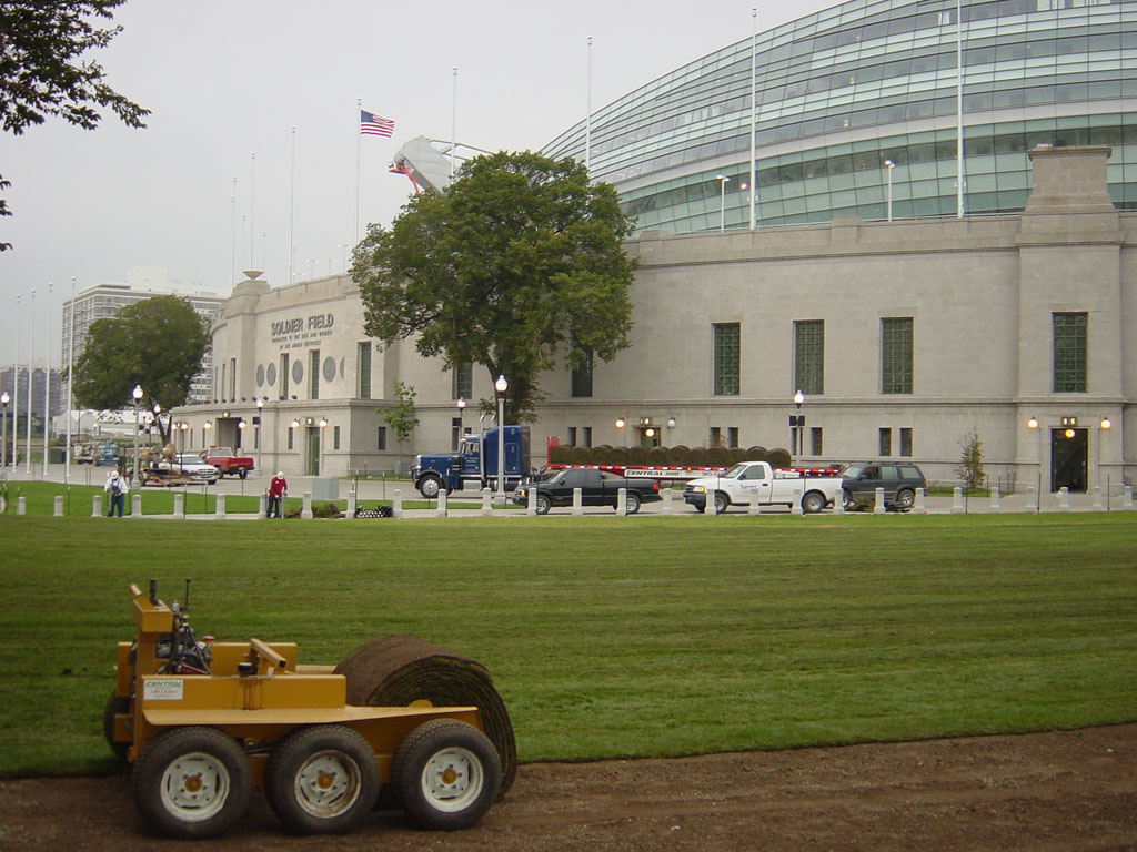 Sod at Soldier Field