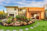 Zoysia lawn by house