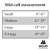 Mojo Compression Socks Calf Compression Running Sleeves  - Medium Support (15-20mmHg) Beige