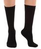 A1017BL, Light Support (8-15mmHg) Black Knee High Compression Socks, Rear View