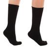A1017BL, Light Support (8-15mmHg) Black Knee High Compression Socks, Back View