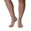 Mojo Compression Socks Plantar Fasciitis Closed-Toe Compression Socks - Beige