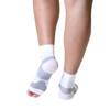 Mojo Compression Socks Plantar Fasciitis Open-Toe Compression Socks White