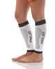 A606WB, Firm Support (20-30mmHg) White/Black Knee High Compression Socks, Rear View
