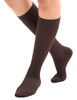 A105BR, Firm Support (20-30mmHg) Brown Knee High Compression Socks, Front View