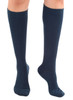 A105NV, Firm Support (20-30mmHg) Navy Knee High Compression Socks, Rear View