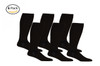AB201BL_6, Firm Support (20-30mmHg) Black Knee High Compression Socks, Front View