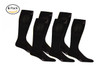 M809BL_6, Firm Support (20-30mmHg) Black Knee High Compression Socks, Front View