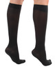 A231BL,Firm Support (20-30mmHg) Black Knee High Compression Socks, Rear View