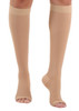 A211BE, Firm Support (20-30mmHg) Beige Knee High Compression Socks, Rear View