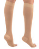 A211BE, Firm Support (20-30mmHg) Beige Knee High Compression Socks, Back View