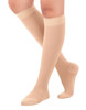 A201BE, Firm Support (20-30mmHg) Beige Knee High Compression Socks, Rear View