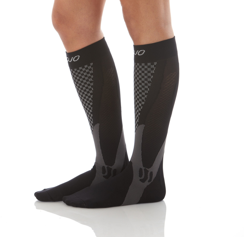 A602BL, Firm Support (20-30mmHg)  Knee High Compression Socks, Rear View