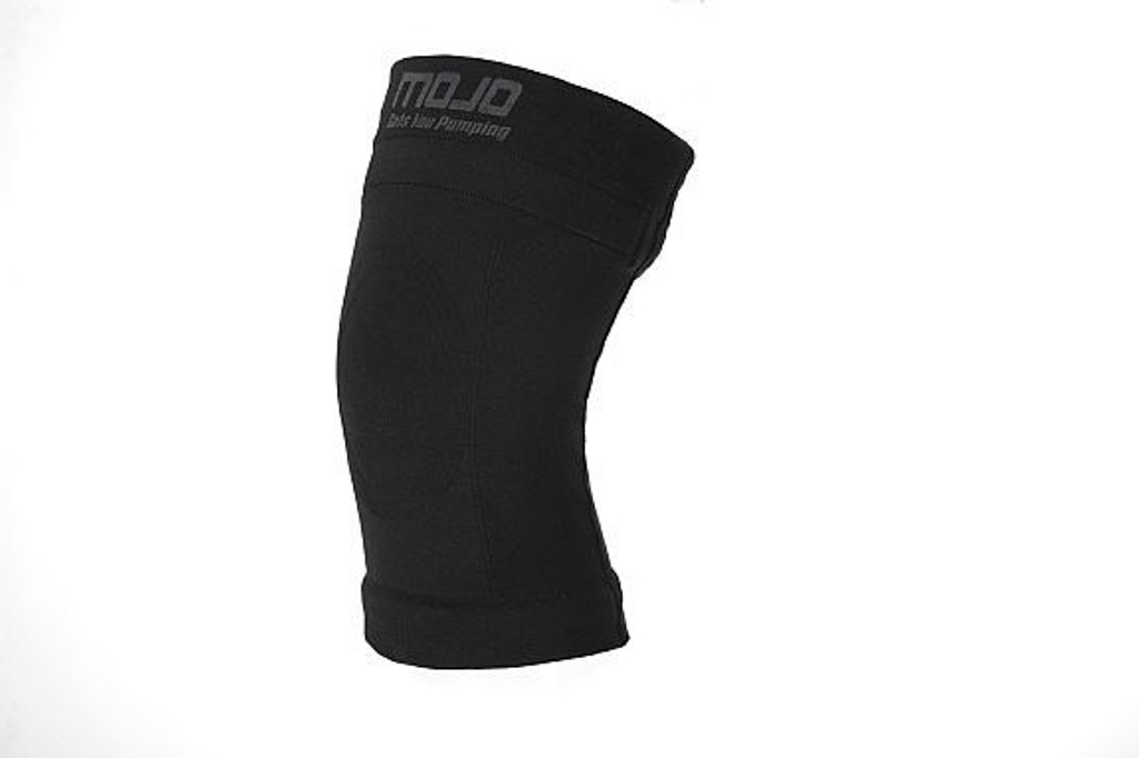 M800, Firm Support (20-30mmHg) Black Knee High Compression Socks, Rear View