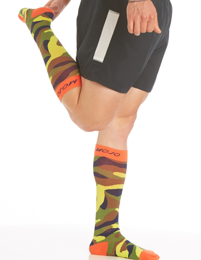 CAMOSOCKC, Firm Support (20-30mmHg) Camo Knee High Compression Socks, Side View