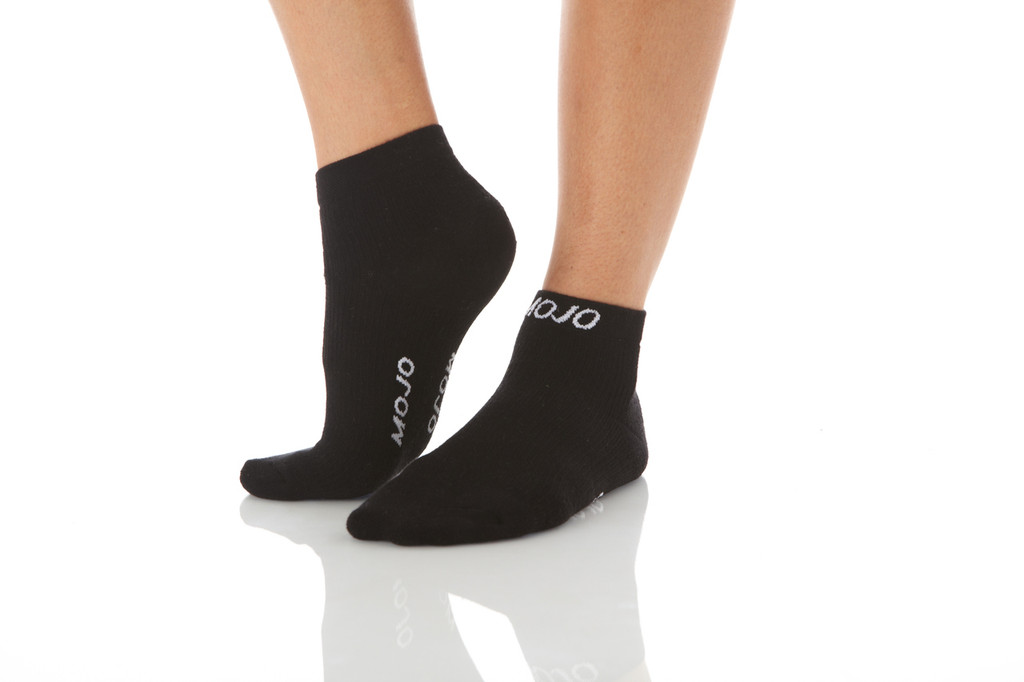 A1012BL, Firm Support (20-30mmHg) Black Knee High Compression Socks, Rear View