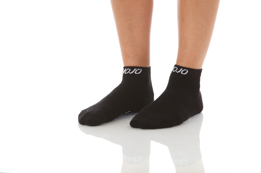 A1012BL, Firm Support (20-30mmHg) Black Knee High Compression Socks, Front View