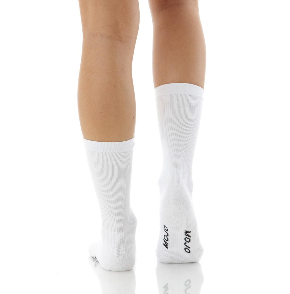 A1011WH, Firm Support (20-30mmHg) White Knee High Compression Socks, Back View