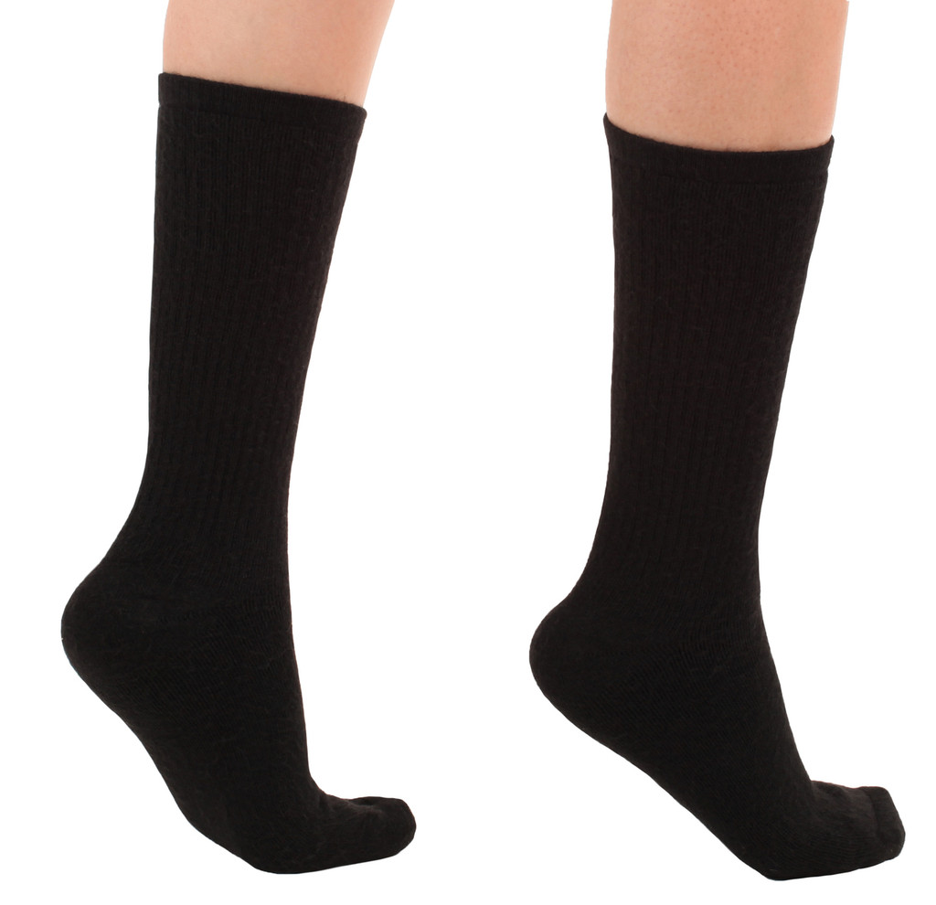 A1017BL, Light Support (8-15mmHg) Black Knee High Compression Socks, Back View