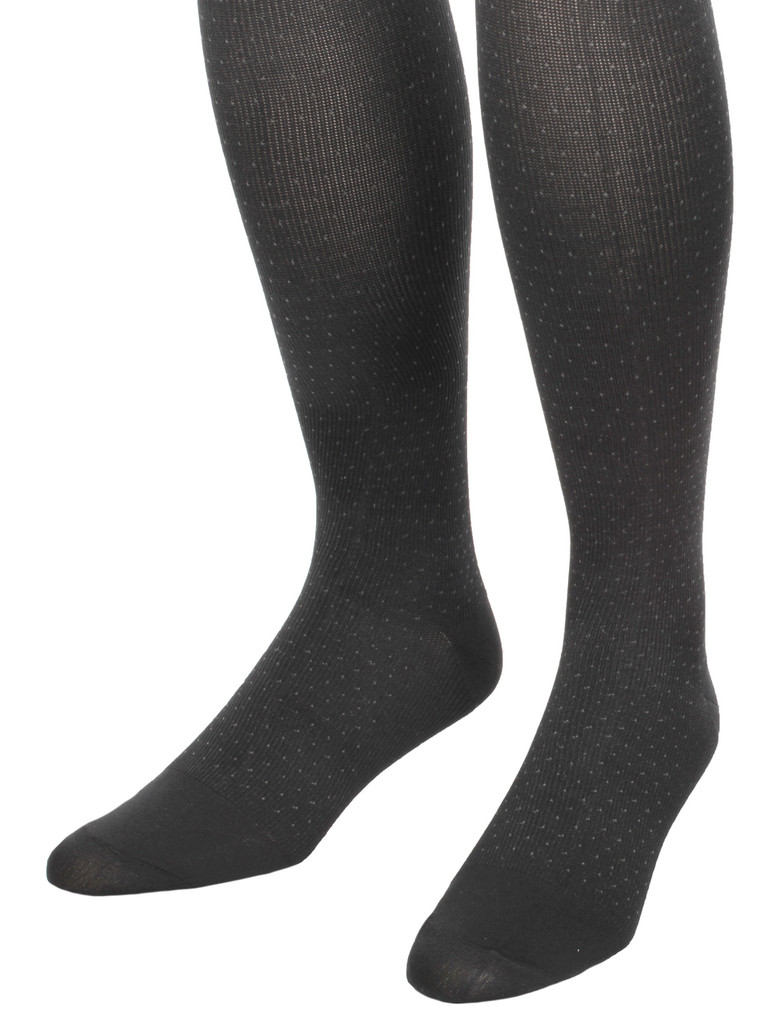 A902BL, Medium Support (15-20mmHg) Black Knee High Compression Socks, Rear View