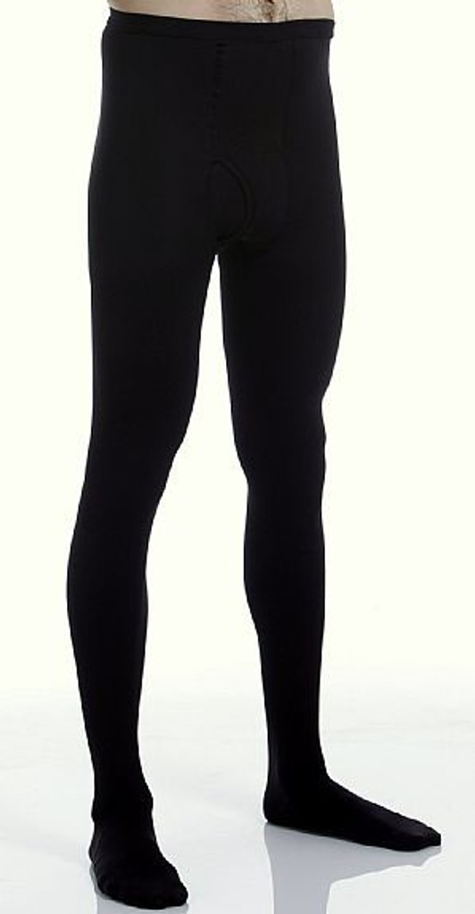 A234BL, Firm Support (20-30mmHg) Black Knee High Compression Socks, Rear View