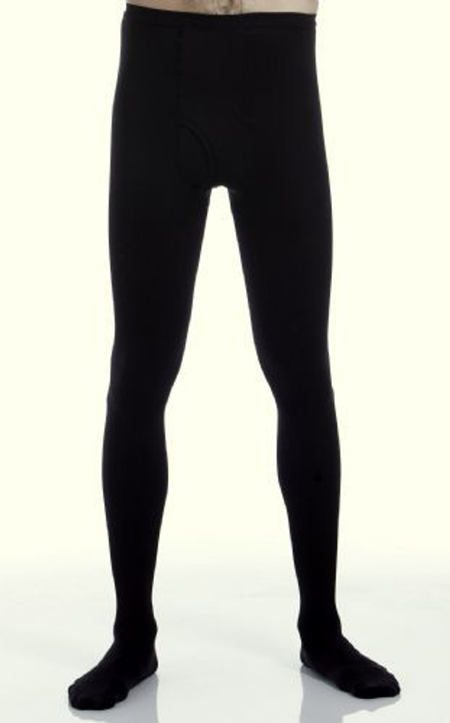 A234BL, Firm Support (20-30mmHg) Black Knee High Compression Socks, Front View