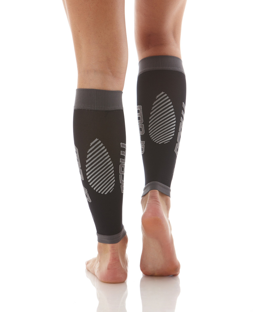 A606BG, Firm Support (20-30mmHg) Black Knee High Compression Socks, Back View