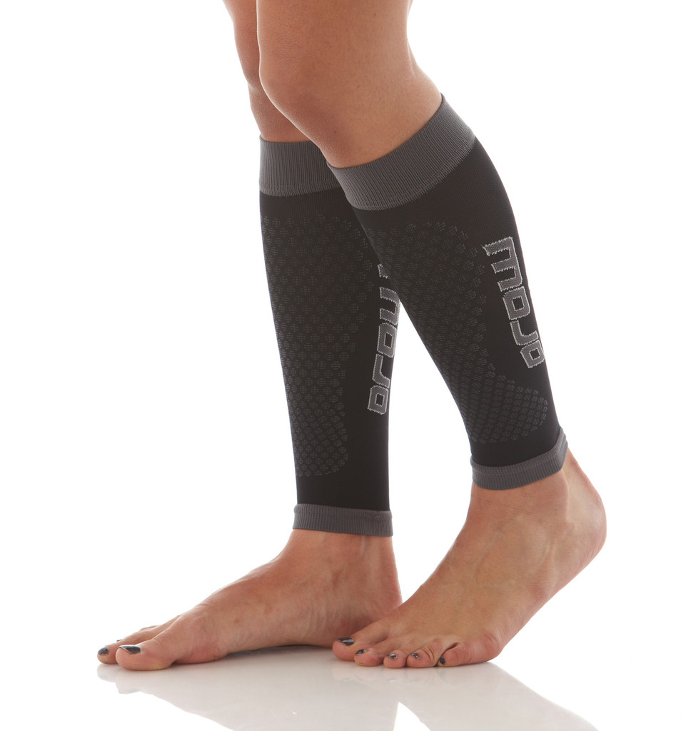 A606BG, Firm Support (20-30mmHg) Black Knee High Compression Socks, Rear View