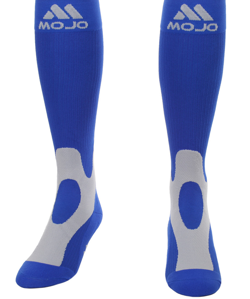 A601NV, Firm Support (20-30mmHg) Blue Knee High Compression Socks, Front View
