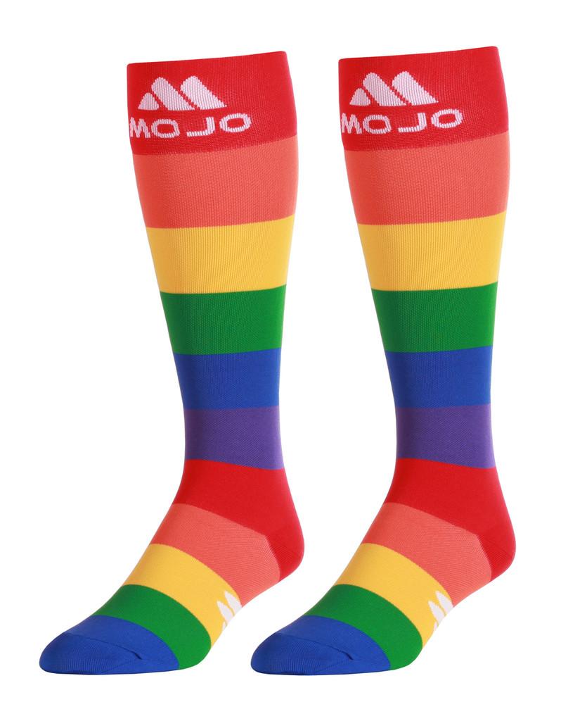 M906PR, Firm Support (20-30mmHg) Pride Knee High Compression Socks, Rear View