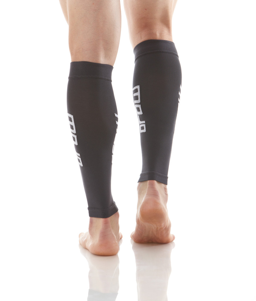 A605BL, Firm Support (20-30mmHg) Black Knee High Compression Socks, Back View