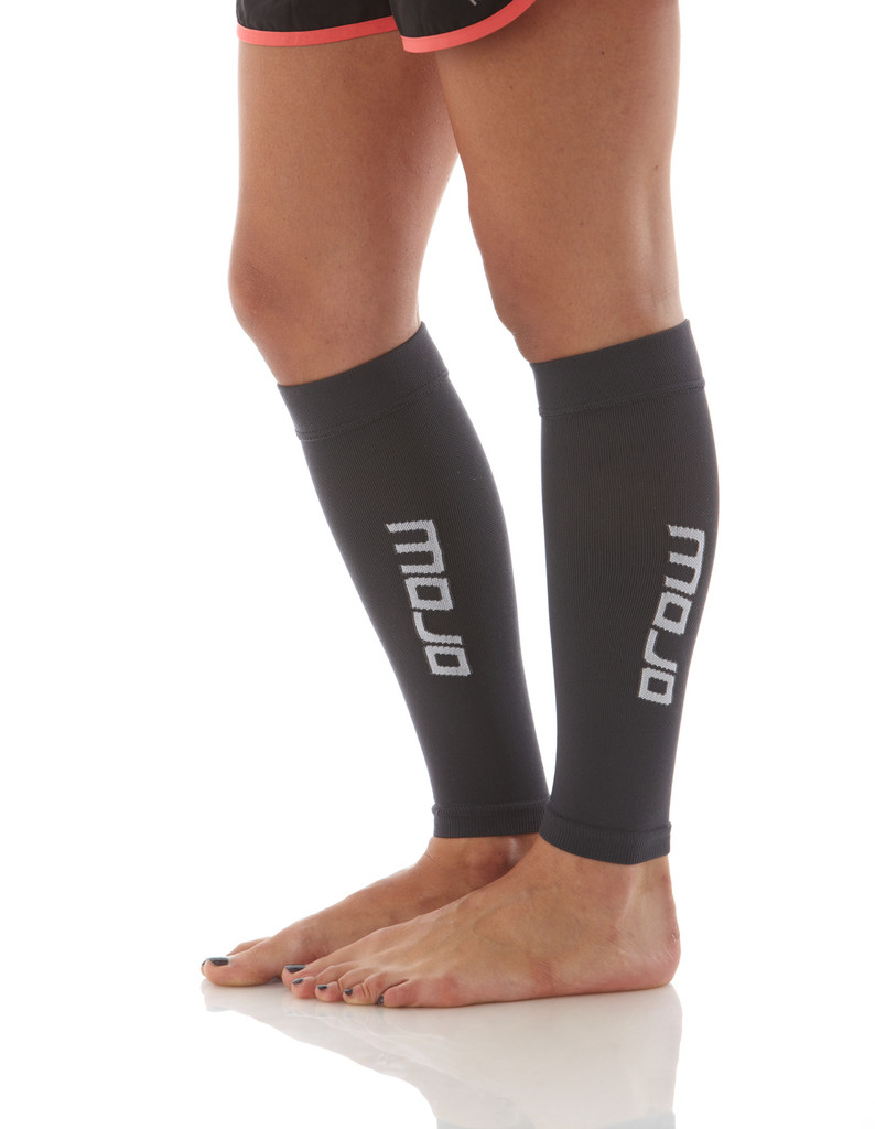 A605BL, Firm Support (20-30mmHg) Black Knee High Compression Socks, Side View