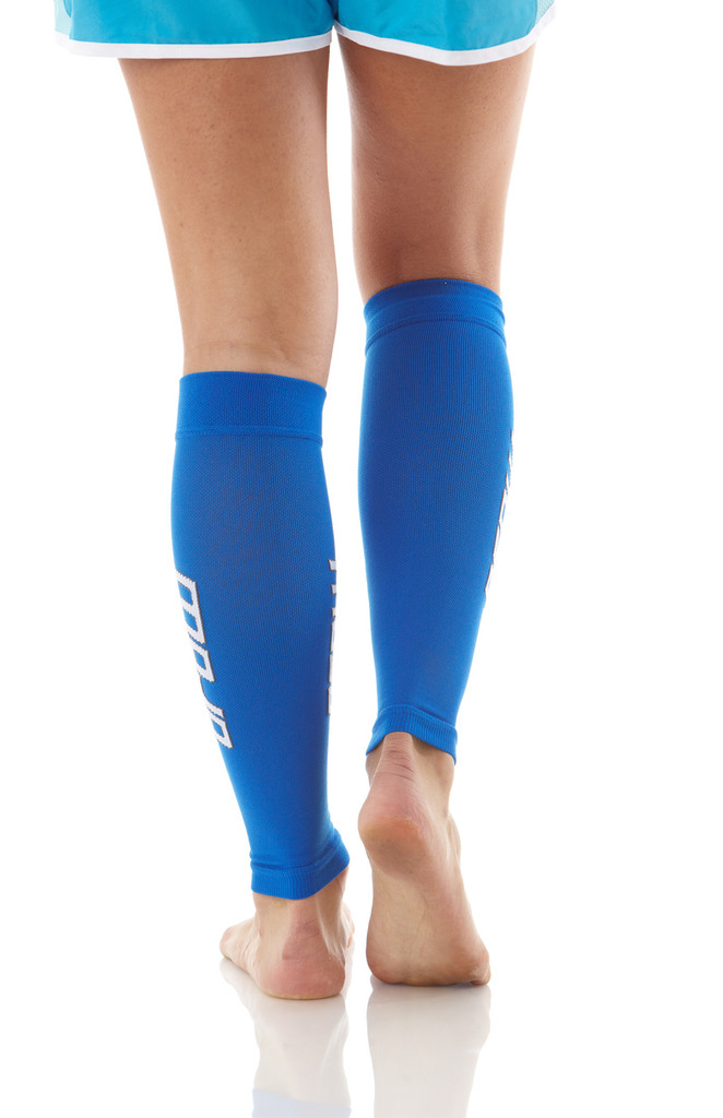 A605Blue, Firm Support (20-30mmHg) Blue Knee High Compression Socks, Back View