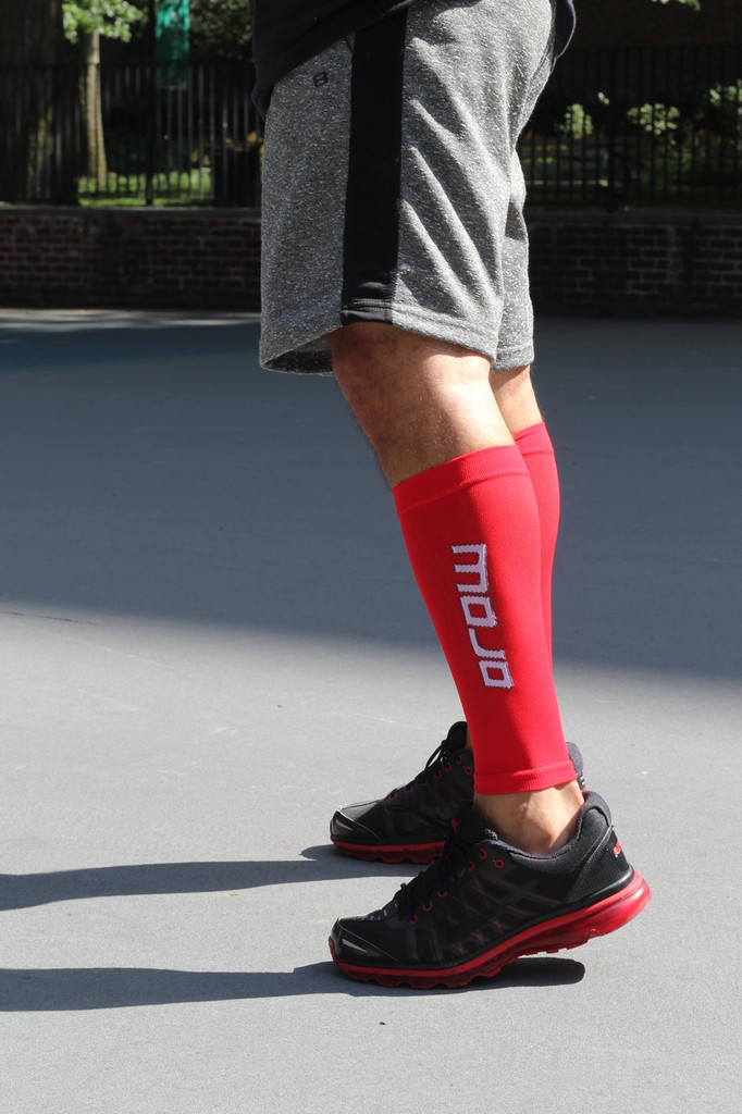 Mojo Compression Socks™ Elite Graduated Compression Calf Sleeves - Red