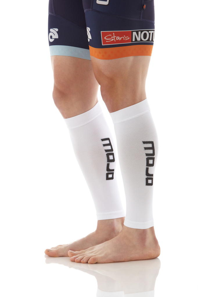 A605WH, Firm Support (20-30mmHg) White Knee High Compression Socks, Rear View