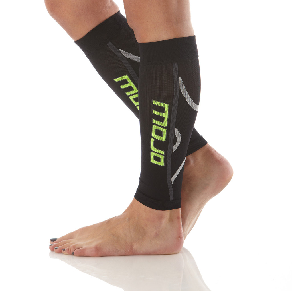 A607BL, Firm Support (20-30mmHg) Black Knee High Compression Socks, Side View