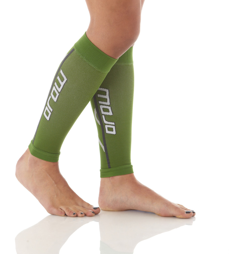 A607GR, Firm Support (20-30mmHg) Green Knee High Compression Socks, Rear View