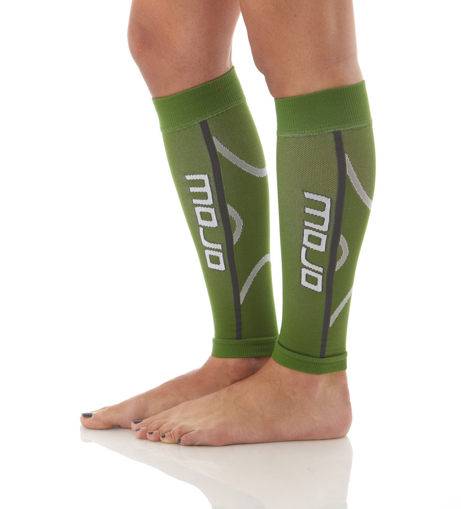 A607GR, Firm Support (20-30mmHg) Green Knee High Compression Socks, Side View