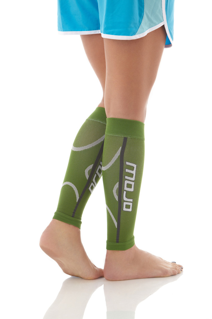 A607GR, Firm Support (20-30mmHg) Green Knee High Compression Socks, Back View