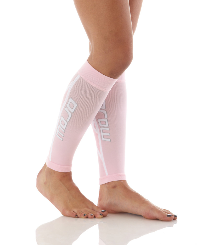 A607PI, Firm Support (20-30mmHg) Pink Knee High Compression Socks, Rear View