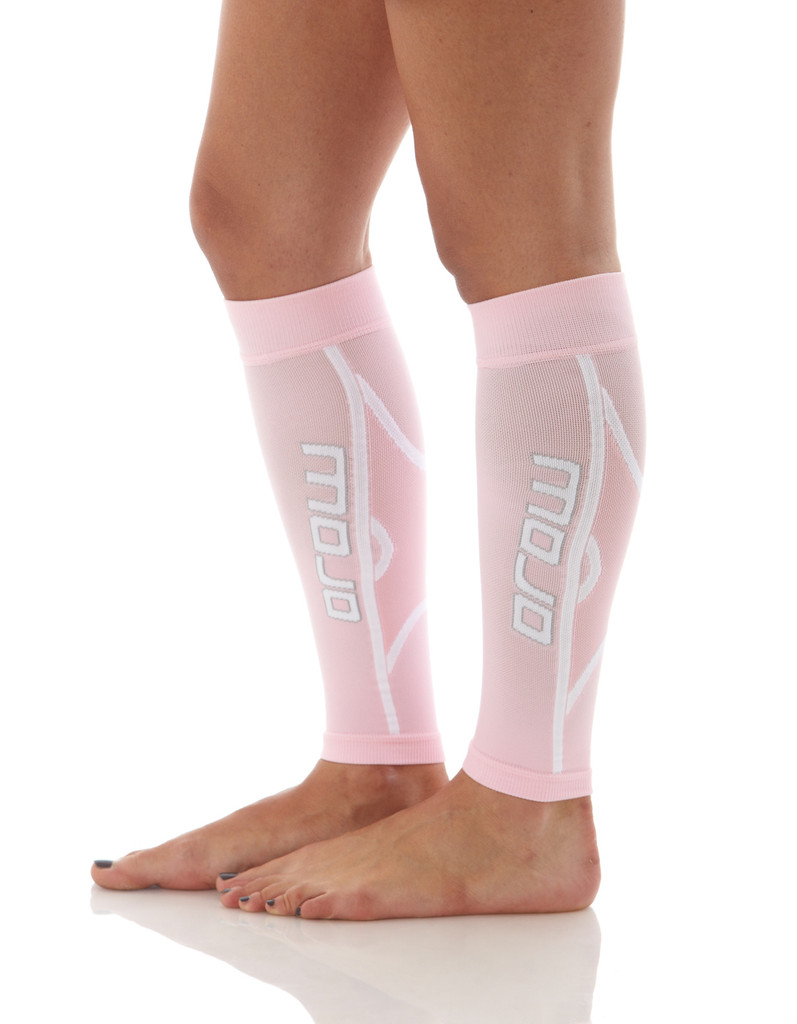 A607PI, Firm Support (20-30mmHg) Pink Knee High Compression Socks, Side View