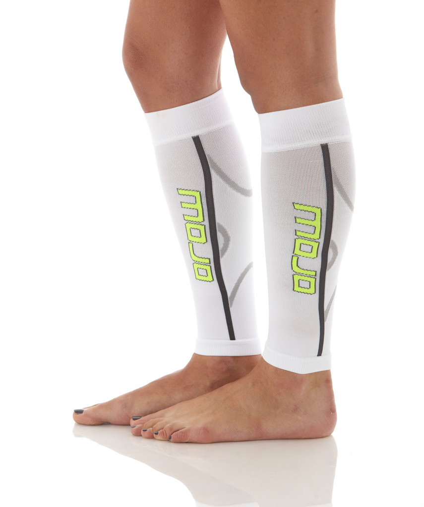 A607WH, Firm Support (20-30mmHg) White Knee High Compression Socks, Rear View